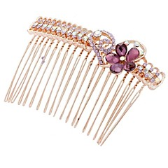 Fashion Exquisite Rhinestone Hair Combs Random Color