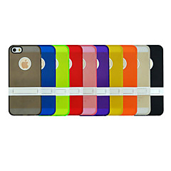 내장 된 받침대 뒷면 커버 케이스 아이폰에 대해 하나의 콤보에 TPU + PC 두 5 / 5S (모듬 색상)