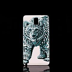 Varten Samsung Galaxy Note Kuvio Etui Takakuori Etui Eläin PC Samsung Note 3