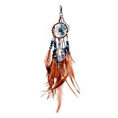 lureme® кристалл способа отложения солей пересечь ловца снов перо бисера брелок сплава