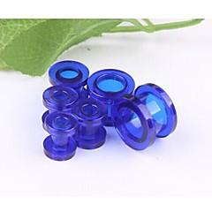lureme®punk alergii walcowe akrylowe powiększyć Urządzenie do przekłuwania uszu biżuterię ciała