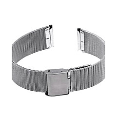 18mm Durable Silver Steel Watch Band Strap Deployment Buckle