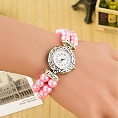 Da donna Orologio alla moda Orologio braccialetto Orologio da polso Quarzo Pelle Banda Pieghe Multicolore Marca