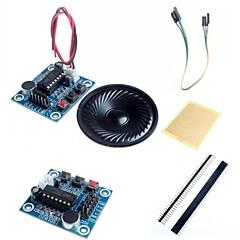 Modul isd1820 de înregistrare a sunetului audio w / microfon / difuzor si accesorii pentru Arduino
