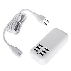 100-240V os strømskinner med 5v 4a 20W 6 USB-porte strømadapter (længde: 150cm)