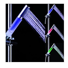 Batter free Color Changing LED Chrome Finish Hand Shower