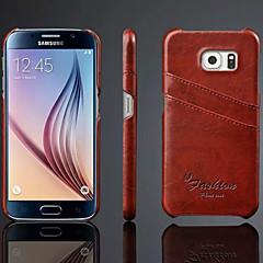 Samsung Samsung Galaxy S6 - Copetă Spate - Telefon mobil Samsung - Culoare solidă ( Roșu/Albastru/Maro/Galben/Gri , Piele Naturală )