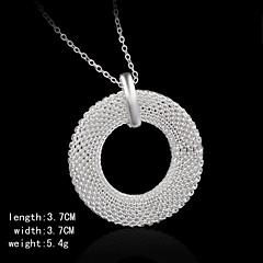 pendents encanto de plata de la forma de las mujeres redondas