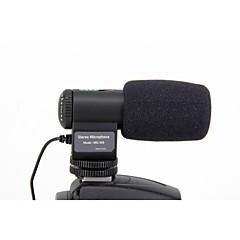 mic-109 ad alta mini microfono stereo sensibile per fotocamera con adattatore jack da 3,5 mm