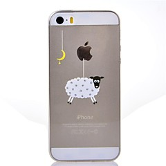 iPhone 5/5S iPhone - Desene Animate/Model special/Transparent/Noutate/Anime/Ultra Slim/Animal/Word cool / expresie/Holding a / Masa Apple a Logo -