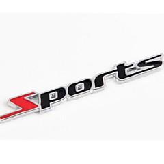 pegatinas de coches de letras metálicas deportes