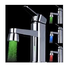 ändra färg batteri fritt vatten drivna kök färgglada ledde kran ljus