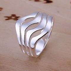 Κρίκοι Γάμου / Πάρτι / Καθημερινά / Causal Κοσμήματα Ασήμι Στερλίνας Γυναικεία Εντυπωσιακά Δαχτυλίδια 1pc,8 Ασημί