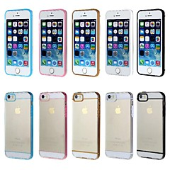 Black Pomelo® Transparent Back Case Cover for iPhone 5/5S