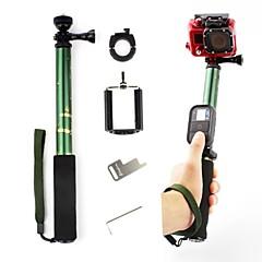 comouflage grünen ausziehbare Einbeinstativ mit Mount-Adapter für gopro und Handy