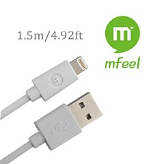 MFi Certified Lightning 8 Pin Data Sync and Charger USB Cable for iphone6 6plus 5s 5c 5 ipad iPod Cable(150cm)