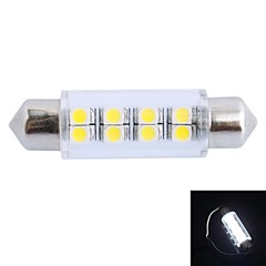 GC® 41mm 1.5W 100LM 6000K 8x3528 SMD White LED for Car Reading / License Plate / Door Lamp (DC12V)
