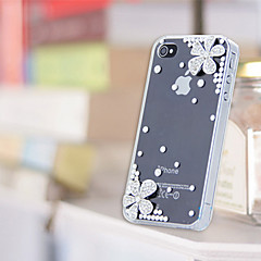 Cherry Pattern Metal Jewelry Back Case Cover for iPhone 5/5S