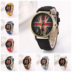 Women's  Union Jack Big  Round Dial Oxford Band Quartz  Watch (Assorted Color)C&d227