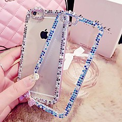 Visual Diamante/Diamond / Rhinestone Decorado Caixa - iPhone 5/iPhone 5S - Cases Cobertas com Joias ( Branco/Azul/Rosa/Roxo , ABS )