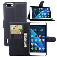 Na Etui Huawei Etui na karty / Portfel / Z podpórką / Flip Kılıf Futerał Kılıf Jeden kolor Twarde Skóra PU Huawei Huawei Honor 6 Plus