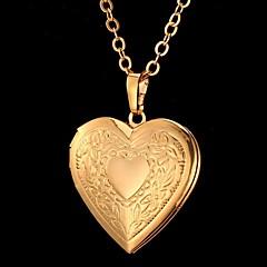 Naisten Riipus-kaulakorut Heart Shape Flower Shape Love Muoti Kaiverrettu pukukorut Korut Käyttötarkoitus Erikoistilaisuus Syntymäpäivä