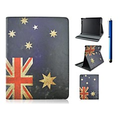 Flag Pattern PU Leather Case with Stand and Pen for iPad 2/3/4