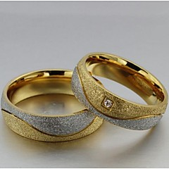 Classic  Unisex As Picture Diamond Couple Rings(As Picture)(2 Pcs) Promis rings for couples