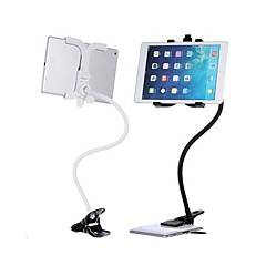 universal holder stativ + doven lange arm holder seng stål klip mount til iPad (assorteret farve)