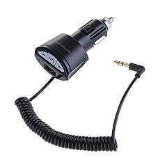 Wireless-Auto-Freisprecheinrichtung Empfänger 3,5 mm Aux-Auto-Stereo-Audio-Adapter USB-Ladegerät