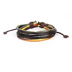 Læder - Wrap Armbånd/Vintage Armbånd/Læder Armbånd - Daglig - 1pc