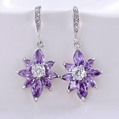 3 Colors Popular Style Earrings For Women 10KT White Gold Filled Earrings Studs Free Shipping