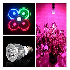 5W E26/E27 LED-kasvivalo MR16 3 Teho-LED 500 lm Neutraali valkoinen / Punainen / Sininen / Vihreä AC 85-265 V 1 kpl