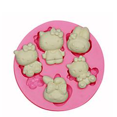 hello kitty silikon mold kake dekorert silikon mold for fondant godteri håndverk smykker PMC harpiks leire