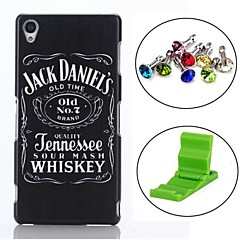 Beer Whiskey Pattern PC Hard Back Cover Case with Anti-dust Plug and Stand for Sony Xperia Z3