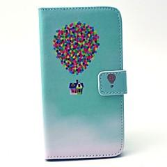 Mert Samsung Galaxy tok Pénztárca / Kártyatartó / Állvánnyal Case Teljes védelem Case Léggömb Kemény Műbőr SamsungS6 edge / S6 / S5 Mini