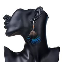 Earring Drop Earrings Jewelry Women Party / Daily / Casual Alloy / Feather 2pcs