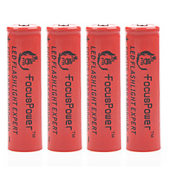 Focus Power 4.2V 6800mAh 18650 Rechargeable Lithium Ion Battery(4pcs)