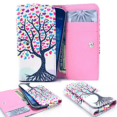Colorful Tree Leather Wallet style Full Body Case and Card Slot for Iphone Mobile Size<12.8*6.8*2.1