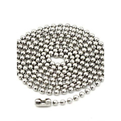 Toonykelly 50CM Fashonable Stianless Steel Silver Ball Link Chain Necklace(1PC)
