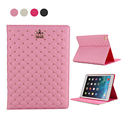 Cannage Crown with Diamonds Style PU Leather Full Body Case with Stand for iPad 2/3/4(Assotted Color)