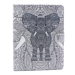 Elephant Pattern PU Leather Full Body Case with Stand for iPad 2/3/4