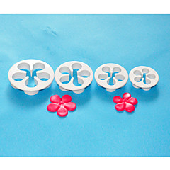 FOUR-C Plastic Daisy Cake Cutter,Fondant Sugarcraft,Cake Decoration Tools Set