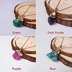 Fashion special Natural Stone Women Jewelry, Drusy Geode Agate Opal Pendant Necklaces