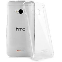 Retour silicone couvercle transparent pour HTC One (M7)