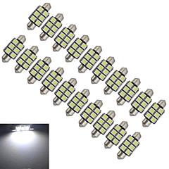 Festoon Oświetlenie dekoracyjne 6 SMD 5050 100-150lm lm Zimna biel DC 12 V 20 sztuk