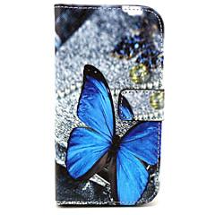 sommerfugl mønster pu læderetui med magnetisk snap og kortplads til Alcatel One Touch pop c7