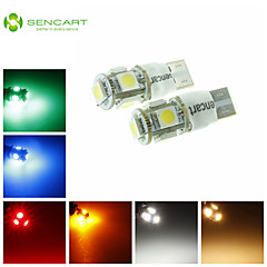 T10 LED 2-Mode Blue/Red/Warm White/Green/Yellow/White1.5W 5X5050SMD 90LM   for Car Light Bulb  (DC12-16V)