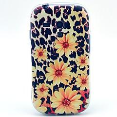 coco fun® leopard daisy mönster tpu tillbaka fallet för samsung galaxy / S4 9500 / S4 mini 9190 / s3 / s3 mini 8190
