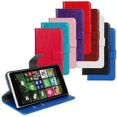 glatte PU folgenden von verrückten Handtasche für Nokia Lumia 830 (assored Farbe)
